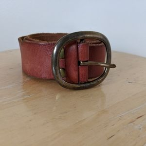 Lucky Brown Leather Belt / classic style
